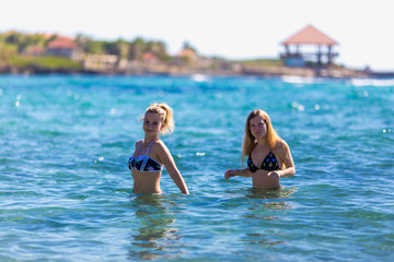 Two girls in the sea