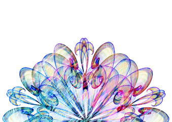 beautiful abstract ornament flower textured background, floral multicolored texture backdrop
