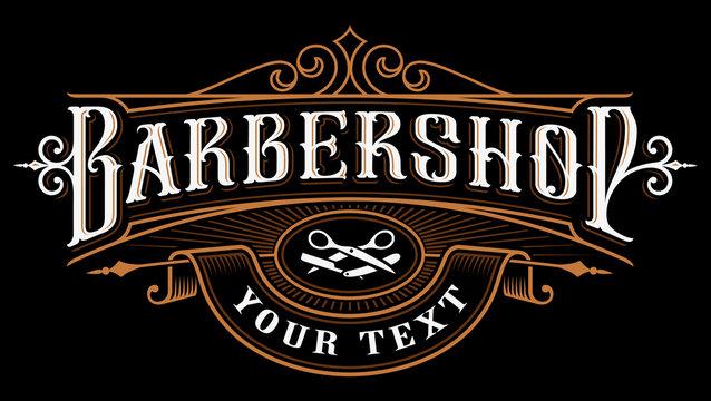Barbershop logo design.