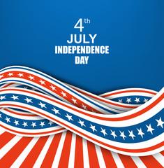 Vintage independence day poster. Vector illustration.