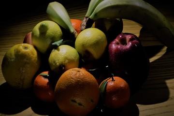 Light Painting cesto frutta