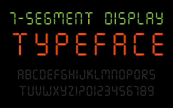 7-Segment Display Font