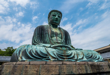 Famous Great Buddha in Kamakura Daibutsu Temple