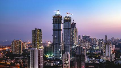 Mumbai skyline- Wadala, Sewri, Lalbaug Wall mural