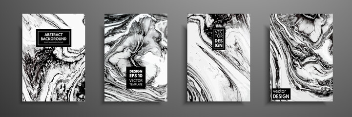 Fototapeta Mixture of acrylic paints. Liquid marble texture. Fluid art. Applicable for design cover, presentation, invitation, flyer, annual report, poster and business card, desing packaging. Modern artwork. obraz