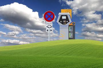 Borne de recharge rapide pour voiture électrique