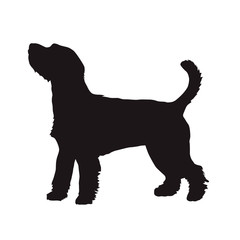 Dog vector silhouette, Parson Russell Terrier. Side view