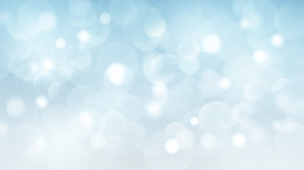 Abstract background with bokeh effects in light blue colors Fototapete