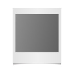 Vector photo frame on white background