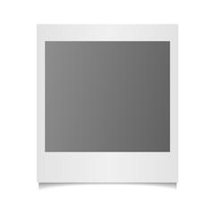 Vector photo frame on white background