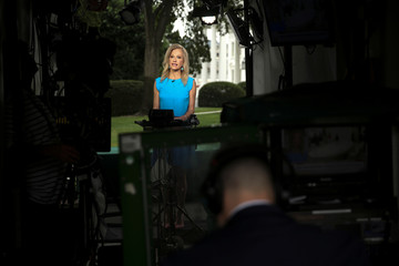 White House counselor Conway speaks live with TV from the White House in Washington
