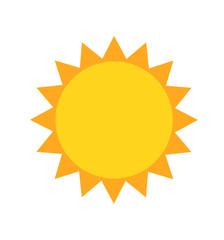 Sun cartoon vector icon illustration isolated on white background