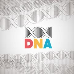 dna molecule structure icon vector illustration design