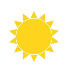 Sun vector cartoon icon illustration isolated on white