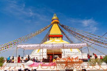 Buddhist stupa of Boudhanath, Kathmandu, Nepal, Asia. UNESCO World Heritage Site