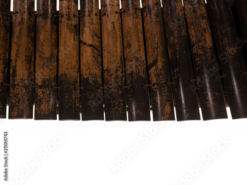 Close up from top view : wooden alto xylophone, Thai