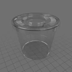 Closed plastic cup