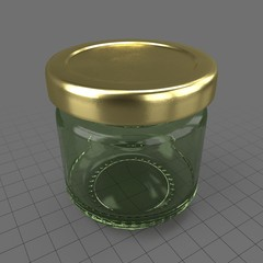 Miniature jam jar