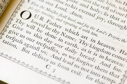 The Lord's Prayer from the Church of England Book of Common Worship (1750)