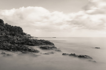 Les Issambres seafront - French Riviera - France (Long exposure)