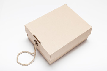 Parcel box package, courier mail service.