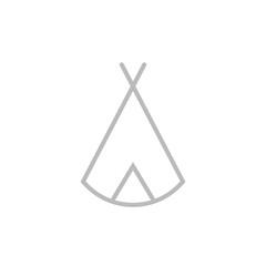 Zelt, Tipi - Piktogramm - grau