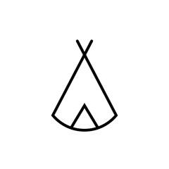 Zelt, Tipi - Piktogramm - schwarz