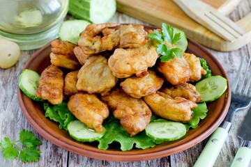 Kibbeling - deep fried battered fish pieces