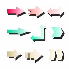 original and modern three-dimensional arrows