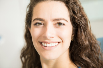 Closeup Of Smiling Female Patient