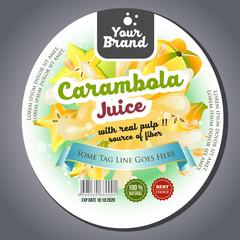 carambola juice label sticker