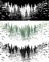 Art forest set. Vector