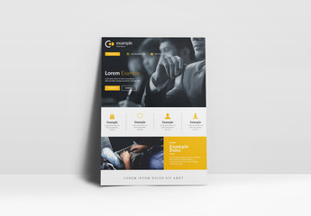 Yellow Business Flyer Layout