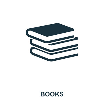 Books icon. Line style icon design. UI. Illustration of books icon. Pictogram isolated on white. Ready to use in web design, apps, software, print.