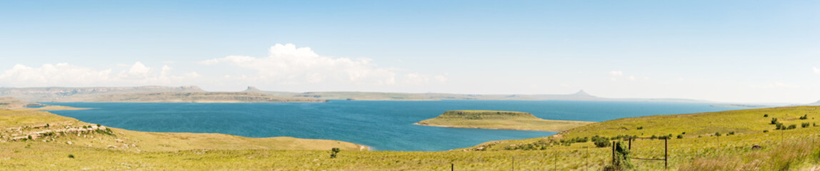 Panoramic view of the Sterkfontein Dam in the Free State