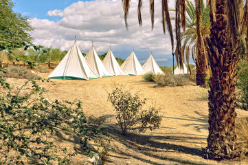 Teepees in the Desert