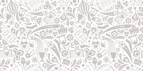 Trendy soccer seamless pattern. Vector ornament