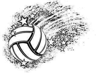 Volleyball Star Grunge Splatter