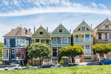 Painted Ladies of San Francisco, California, USA.