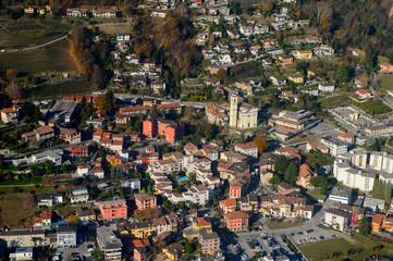Lugano, Switzerland. Aerial view
