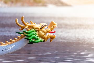 Decorated figurehead of dragon boat