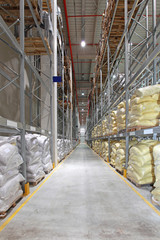 Food Sacks in Warehouse