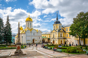 Main square at Holy Trinity St. Sergius Lavra, Russia