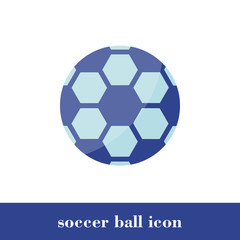Vector Illustration. Soccer ball icon. Flat style. Ball