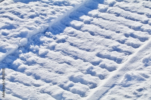 Fresh Snowmobile Tracks
