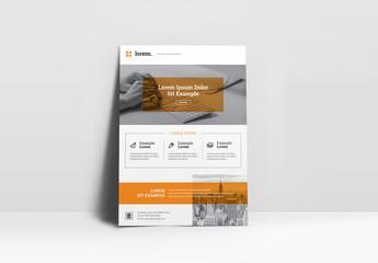 Orange Business Flyer Layout
