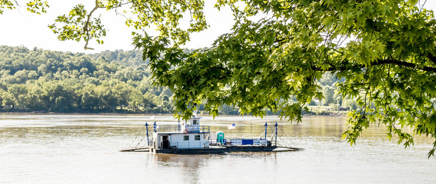 Augusta Kentucky Ferry Crossing Ohio River