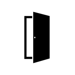 Door icon in style fashionable flat, isolated on white background. An open door symbol for your website design, logo, application, user interface. Vector illustration