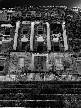 Vertical Creepy Abandoned Haunted Hospital