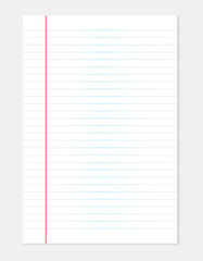 White line paper sheet background